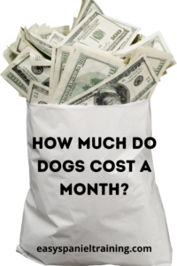 how much do dogs cost a month